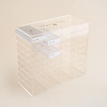 Rangement pour boîtes de cils en acrylique